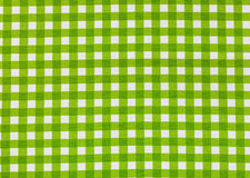 Tablecloth checkered green and white texture background Royalty Free Stock Photo
