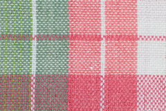 Tablecloth checkered pattern. Close - up picnic tablecloth checkered pattern Stock Images