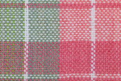 Tablecloth checkered pattern. Close - up picnic tablecloth checkered pattern Royalty Free Stock Photo