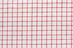 Tablecloth checkered red and white texture background Stock Images