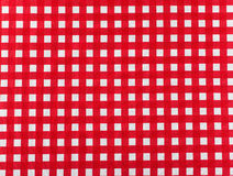 Tablecloth checkered red and white texture background. High detalied Stock Image