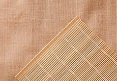 Tablecloth de bambu imagem de stock