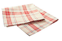 Tablecloth dishes Stock Photography