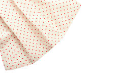 Tablecloth dishes Stock Image