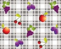 Tablecloth do projeto da fruta do vintage ilustração do vetor