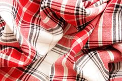 Tablecloth fabric . selective focus Royalty Free Stock Photography