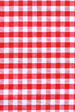 Tablecloth fabric texture. Red and white tablecloth.  Provence style Stock Photo