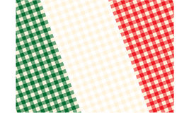 Tablecloth flag of Italy. In Royalty Free Stock Photo
