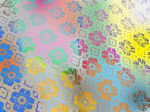 Tablecloth of floral pattern. Background stock photos