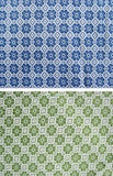 Tablecloth of floral pattern Stock Image