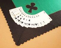 Tablecloth Gaming spades Stock Photos