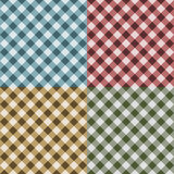 Tablecloth Gingham Seamless Pattern. (Four Variations Stock Photography