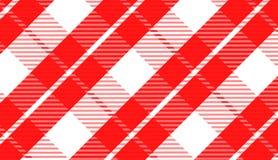 Tablecloth gingham wzór dla szkockiej kraty, tło, tablecloths dla tekstylnej artykułów, czerwonej i czarnej komórki, wektorowa il royalty ilustracja