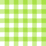 Tablecloth in green with Checkered design Royalty Free Stock Photography