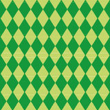 Tablecloth with green diamond pattern Stock Photography