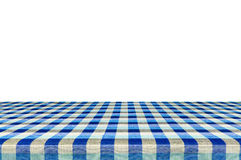 Tablecloth isolated on white background with c. Picnic table with tablecloth isolated on white background with clipping path Stock Image