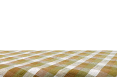 Tablecloth isolated on white background with c. Picnic table with tablecloth isolated on white background with clipping path Royalty Free Stock Images