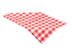 Tablecloth isolated on white. Background with clipping path Stock Photos