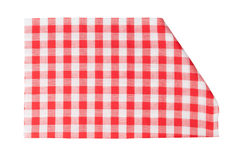 Tablecloth isolated on white Stock Images