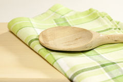 Tablecloth in the kitchen Royalty Free Stock Photo