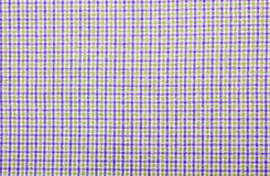 Tablecloth. Light violet checked fabric tablecloth Royalty Free Stock Image