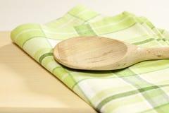 Tablecloth na cozinha foto de stock royalty free