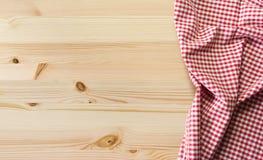 Tablecloth na stole Obrazy Stock