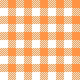Tablecloth in orange with Checkered design Stock Images