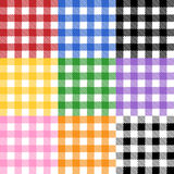 Tablecloth Pattern. A seamless traditional tablecloth pattern in 9 different colors. Each color placed on separate layer for ease of use Stock Photography