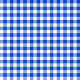 Tablecloth pattern. Illustration of blue tablecloth seamless pattern Royalty Free Stock Images