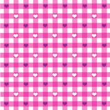 Tablecloth pattern with hearts Royalty Free Stock Photography