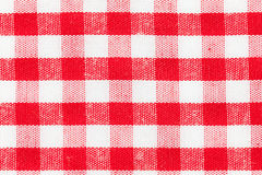 Tablecloth pattern. Red and white gingham tablecloth pattern Royalty Free Stock Image