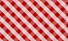 Tablecloth for plaid,background,tablecloths for textile articles. Red and white cell,vector illustration.EPS-10 royalty free illustration