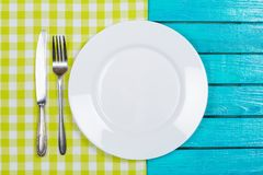Tablecloth. Plate red wood tabletop design website Stock Photography