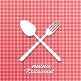 Tablecloth pro spoon Stock Photos