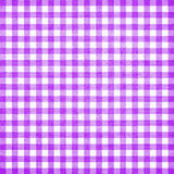 Tablecloth. Purple checkered tablecloth texture or background Stock Image