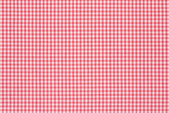 Tablecloth red and white background. Red and white gingham tablecloth texture background, high detailed Stock Photography