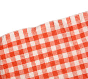Tablecloth red and white checkered wavy texture background Stock Photo