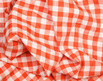 Tablecloth red and white checkered wavy texture background Royalty Free Stock Photography