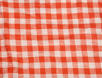 Tablecloth red and white checkered wavy texture background Royalty Free Stock Image