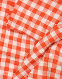 Tablecloth red and white checkered wavy texture background. Tablecloth red and white checkered wavy texture Stock Photo