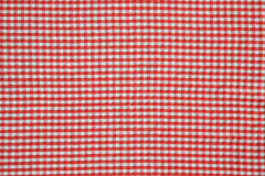 Tablecloth. It is red a white tablecloth close up Stock Image
