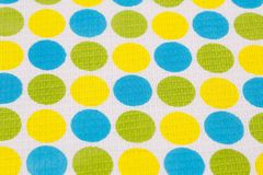 Tablecloth background. Tablecloth with round pattern  closeup picture Royalty Free Stock Photos