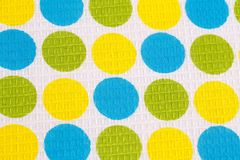 Tablecloth background. Tablecloth with round pattern  closeup picture Royalty Free Stock Images