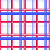 Tablecloth seamless. Red and blue lines -  vector illustration. You can use it to fill your own background Stock Image