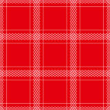 Tablecloth seamless. White lines on red background - vector illustration. You can use it to fill your own background Royalty Free Stock Photography
