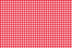 Tablecloth seamless pattern red Royalty Free Stock Photo