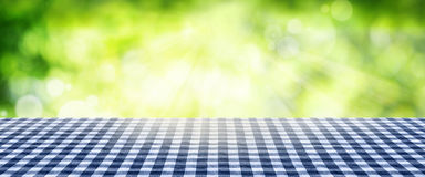 Tablecloth with spring background Stock Photos