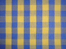 Tablecloth with square or gingham pattern Royalty Free Stock Photography