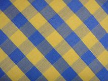 Tablecloth with square or gingham pattern Stock Photo
